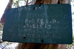トンボ石の案内板