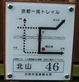 京都一周トレイルの標識