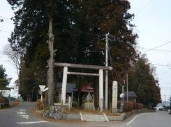 八雲神社のY字路