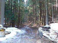 穴切峠への道